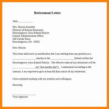 how to write a letter of resignation due to retirement