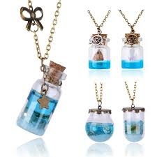 wish bottle necklace images Ocean in a bottle wish necklace the fancy and dandy store jpg