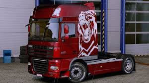 euro truck simulator 2 paint white bear from the mercedes actros