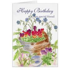 happy birthday special friend greeting cards zazzle