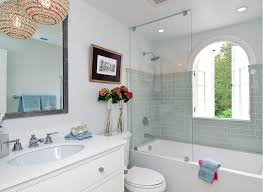 glass tile bathroom ideas tamara mack design eclectic bathroom with glass shower partition