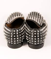christian louboutin black men rollerboy leather silver flats on
