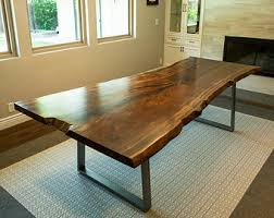 live edge redwood softwood dining table or large desk by mezworks