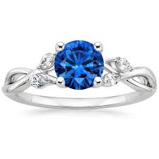 sapphire engagement rings sapphire willow ring 1 8 ct tw in 18k white gold