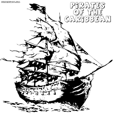 pirates of the caribbean coloring pages printable pirate coloring