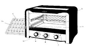 Kitchenaid Toaster Oven Parts List Oster 6071 Parts List And Diagram Ereplacementparts Com