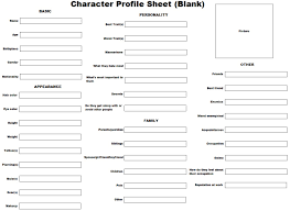 best 25 character sheet writing ideas on pinterest character