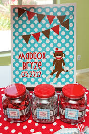 Sock Monkey Favors by Sock Monkey Themed Baby Shower