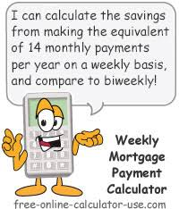 Estimating A Mortgage Payment by Weekly Mortgage Payment Calculator With Dynamic Comparison Charts