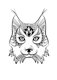Coloriage animaux Lynx  ManMan Stuffies  Pinterest  Mandala