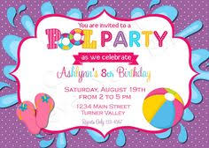 splash party birthday invitation first birthday by abbyreesedesign
