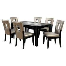 Dining Room Sets With Glass Table Tops Enthralling Iohomes 7pc Glass Insert Table Top Dining Set Wood