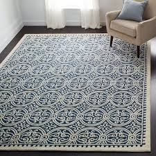Safavieh Rugs Safavieh Handmade Moroccan Cambridge Navy Blue Wool Rug Free