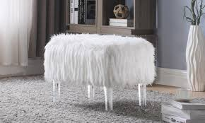 Faux Fur Ottoman Faux Fur Ottoman Canada Pavillion Home Designs Attractive Faux