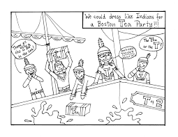 boston tea party drawing drawing sketch picture