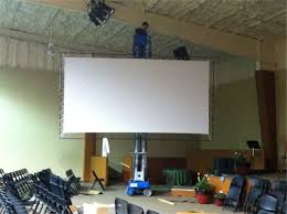 diy projection screens church stage design ideas