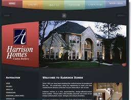 designing a custom home construction website design for harrison homes your web guys