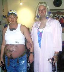 Pregnancy Halloween Costumes Couples White Trash Party Decor Google Camp Party