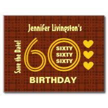 custom 60th birthday save the date joan s