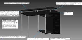 hey imgur i u0027m designing a small cheap gaming desk and wanted to