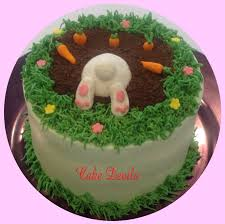 bunny digging bunny cake decorations digging cake topper