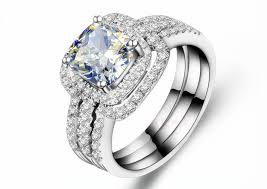 diamonds rings wedding images Trendy 3 carat three rings combine nscd synthetic diamonds jpg