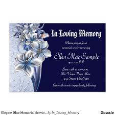 funeral service announcement wording blue memorial service announcements 5 x 7 invitation