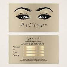 gifts for makeup artists gift certificate sepia gold lashes makeup artist makeup artist