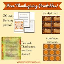 free thanksgiving printables creatively organized