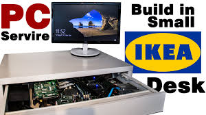 Gaming Desk Ikea by Diy Pc Server Build In A Small Ikea Desk Youtube