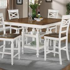 counter height table with chairs 104008 ashley two tone counter height table with 12 leaf buy