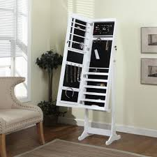 stand alone mirror with lights artiva usa home deluxe floor standing jewelry armoire with mirror
