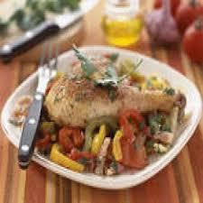 cuisine poulet basquaise poulet basquaise au riz recettes de cuisine française