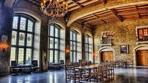 Medieval Grand Castle Dining Room Great Dinning Castel Windows - Castle dining room