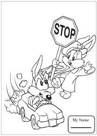 cartoons coyote and a stop sign baby looney tunes coloring pages