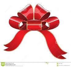 christmas present bows glossy ribbon bow vector illustration stock illustration