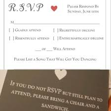 our rsvp cards are a huge hit with our guests front back