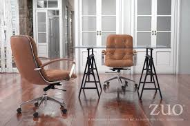 avenue office chair vintage coffee 100446 zuo mod