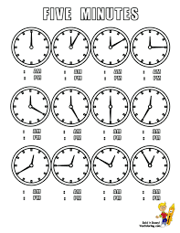 printable 14 learning time coloring 1120 learning the hour clock