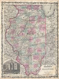 Map Of Illinois by File 1862 Johnson Map Of Illinois Geographicus Il Johnson 1862
