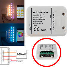 led strip lights wifi controller white lighting remotes ebay