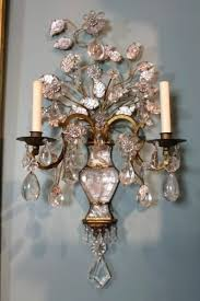 Chandelier Wall Sconce Sconce C Home Wall Sconces With Hanging Crystals Crystal Wall