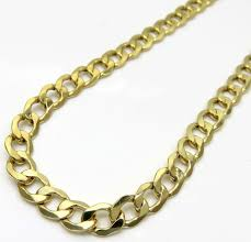 cuban chain necklace gold images 7mm 10k yellow gold cuban link chain necklace jpg