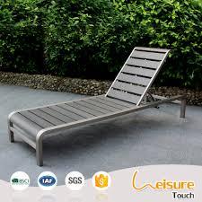 Polywood Sofa Outdoor Beach Metal Funiture Brushed Aluminum Polywood Deck Chair