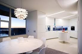 simple kitchen with contemporary and black white floor futuristic