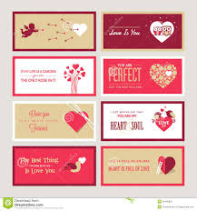 set of valentines day greeting card templates royalty free stock
