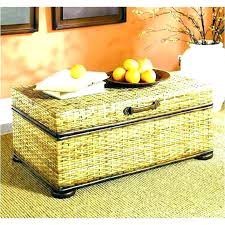 Wicker Storage Ottoman Coffee Table Rattan Storage Ottoman Wicker Storage Ottoman Wicker Storage