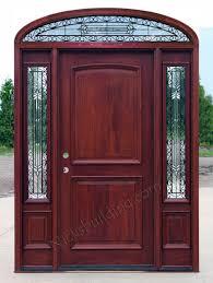 glass wood doors mahogany doors with elliptical transoms 6 u00278