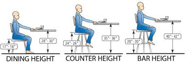Dining Table Chairs Height Marvelous Kitchen Table Heights Dining Height Difference