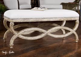 karline linen uplostered bed end bench zin home